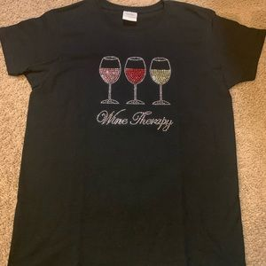 Wine therapy anyone?  Very fun and chic top.  SZ M